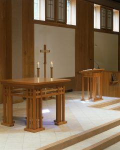 liturgical furnishings, worship space renovation, foresight architects