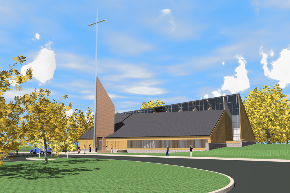 new catholic church, saint henry, foresight architects