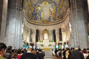 Mass at Sacré Coeur, photo courtesy of BSCM