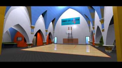 Interior rendering of new gymnasium