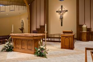 Liturgical furnishings at St. Joseph Church in Demarest, NJ by Foresight Architects & Artsphere Consulting, LLC