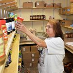 new church building, food pantry