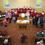 new church building, choir