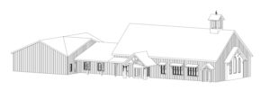 Rendering of the exterior of the proposed Milford United Methodist Church designed by Foresight Architects