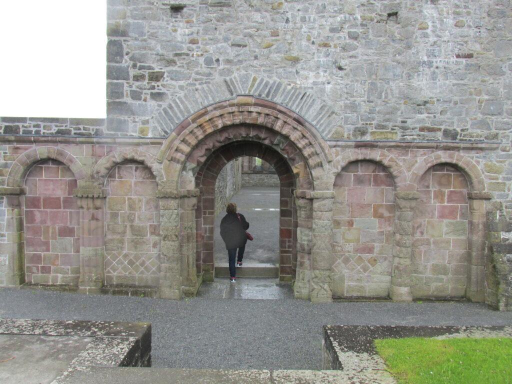 The Romanesque west doorway and blind arcade