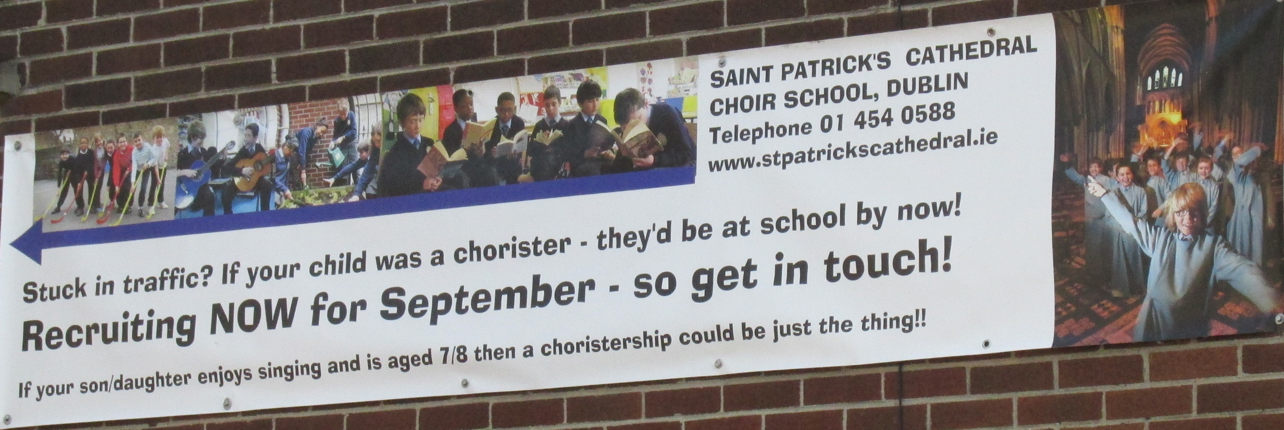 St. Patrick's Cathedral Choir School ad