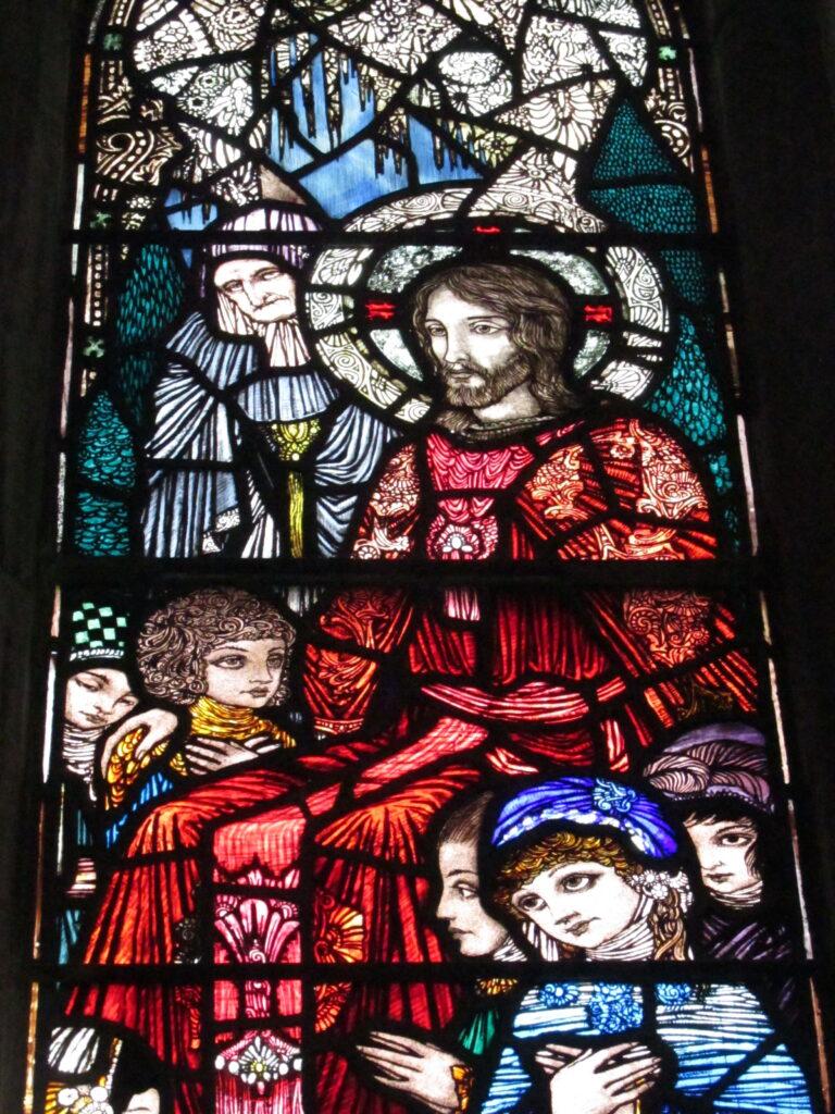 Harry Clarke window in St. Joseph Convent Chapel, Dingle
