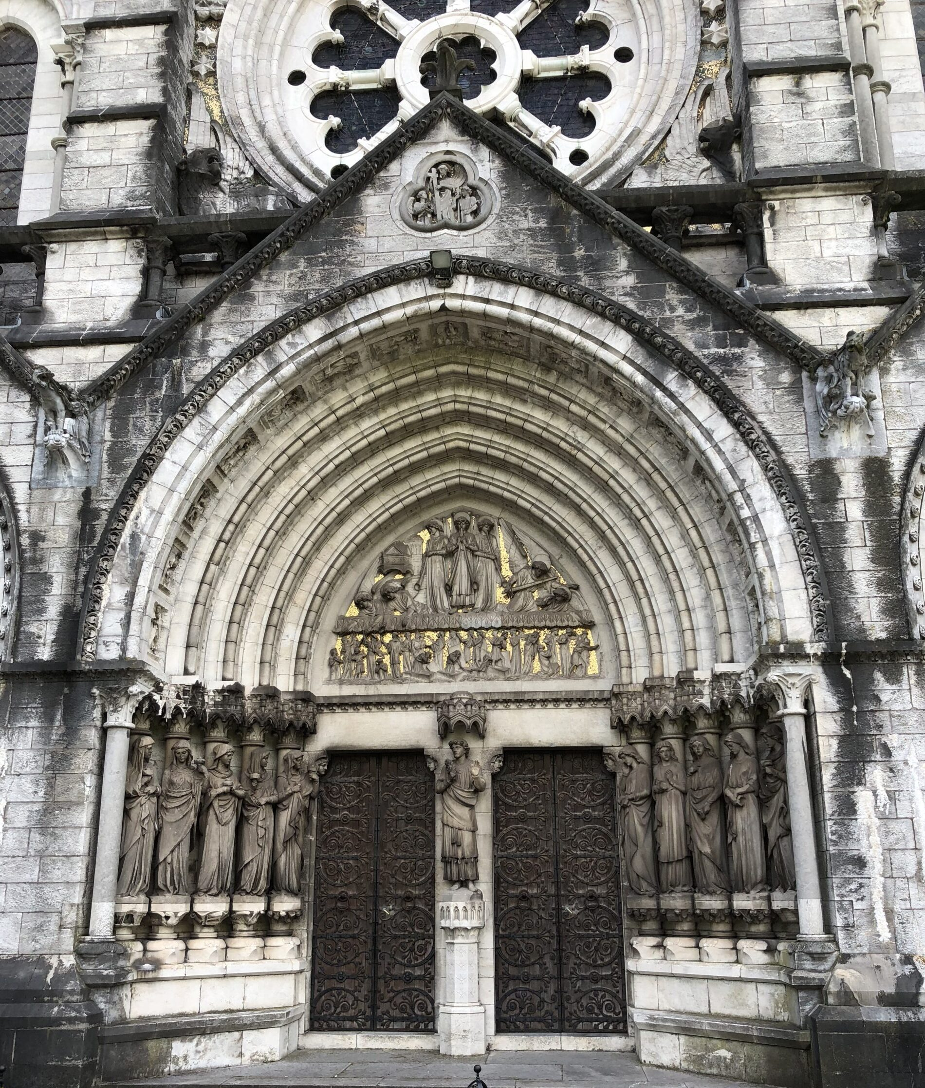 Tympanum at main entrance to St Fin Barre's Cathedral, Cork