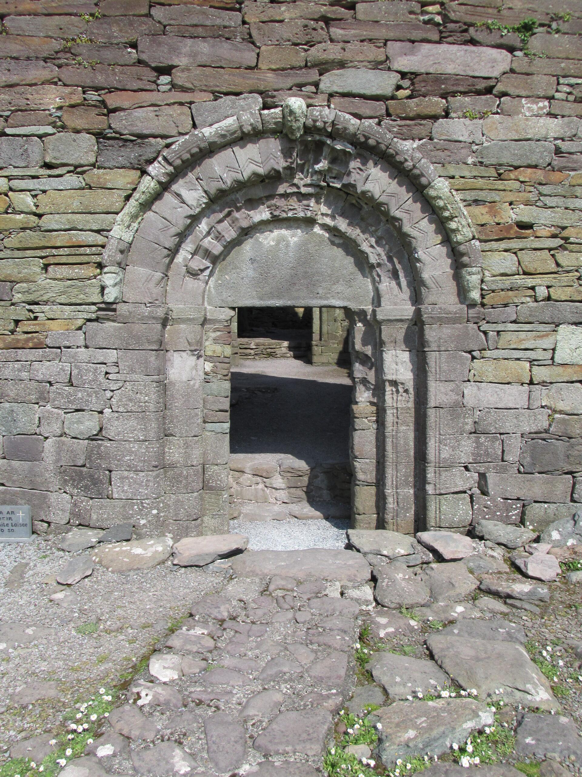 Entry doorway to Kilmalkedar Church, Kerry