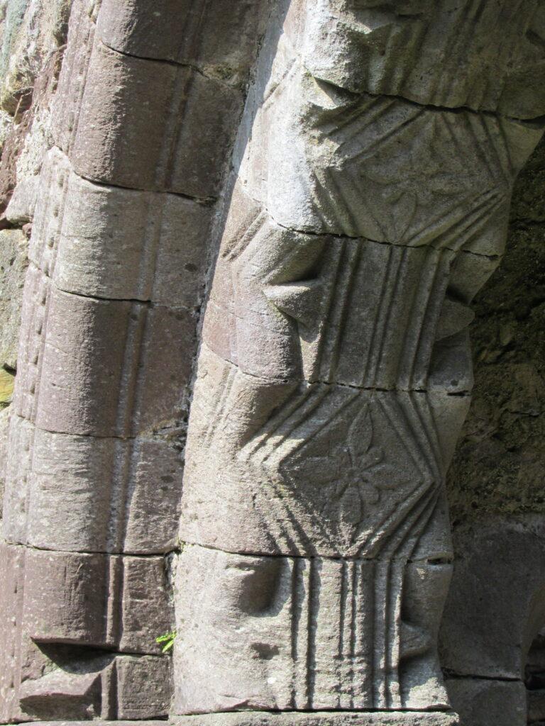 Chancel arch in the nave of Kilmalkedar Church, Kerry