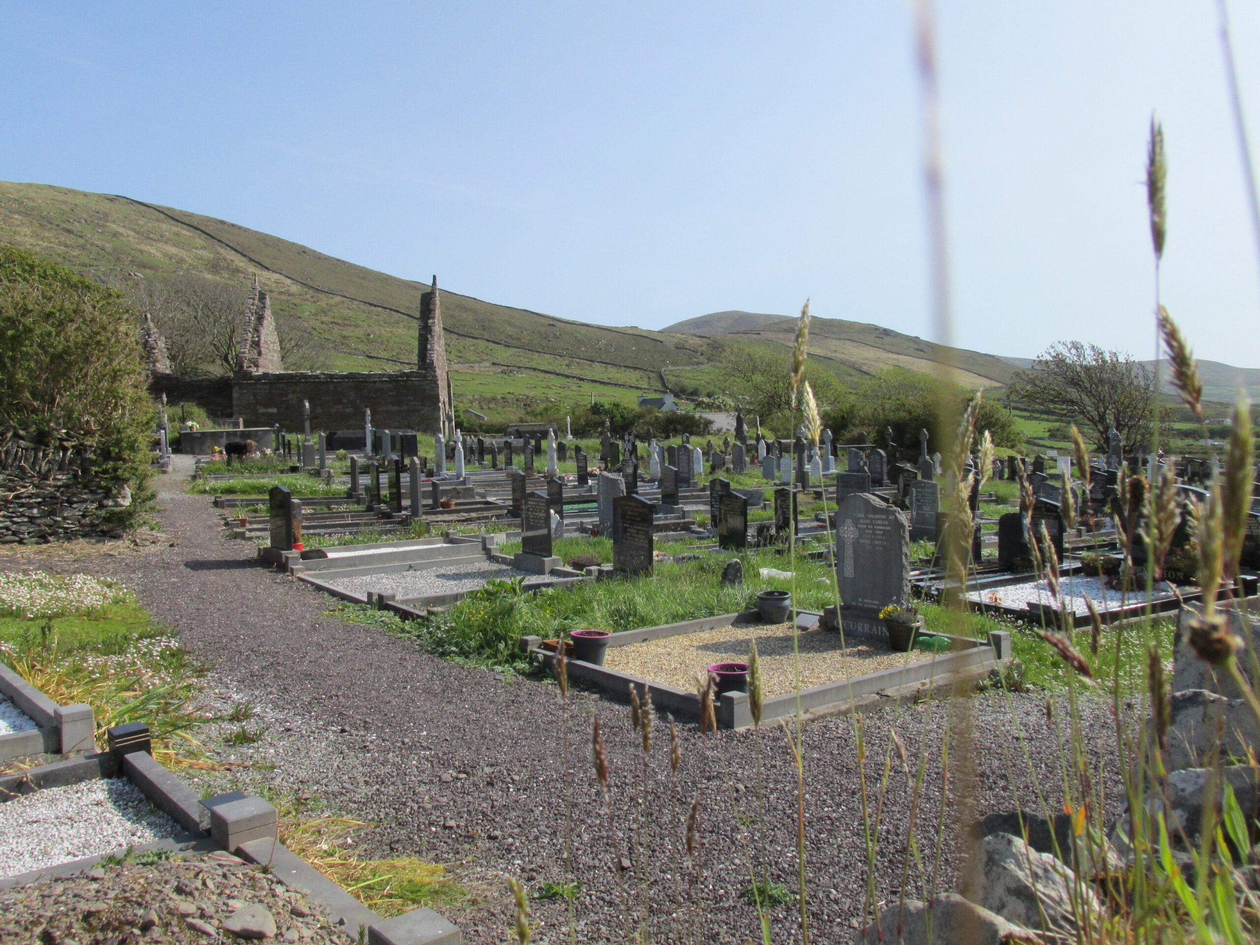 Graveyard at Kilmalkedar Church, Kerry