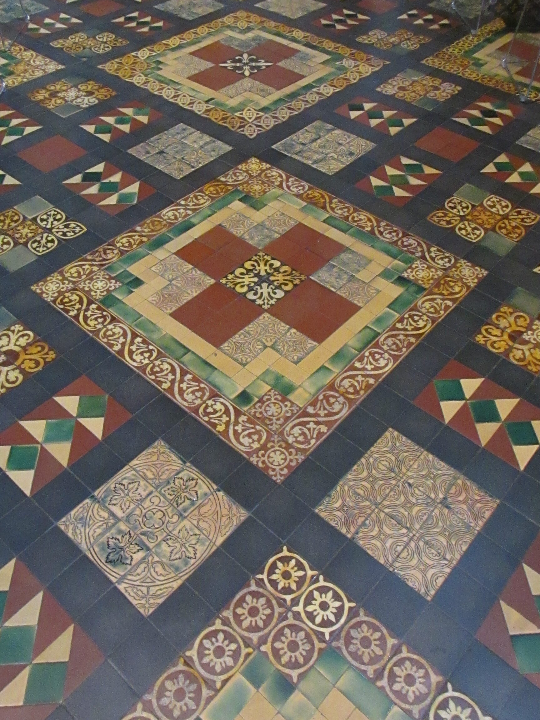 Tile floor at St. Patrick's Cathedral, Dublin