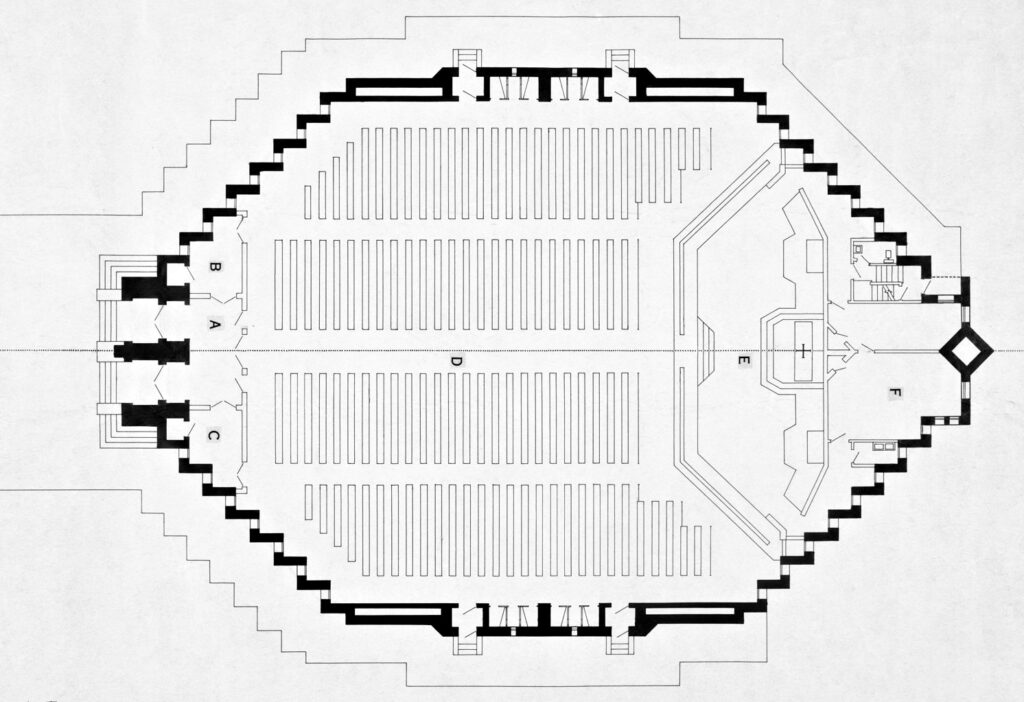 Plan of Church of Christ the King, Cork